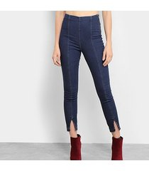 calça jeans lez a lez pantacourt justa feminina