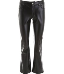 alexander wang faux leather trousers