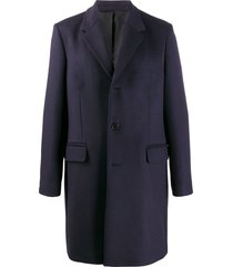 acne studios classic structured coat - blue