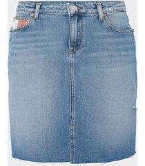 falda larga maia indigo tommy jeans