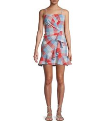 flynn foldover flounce mini dress