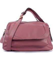 bolsa em couro yasrro gabys rosa antigo