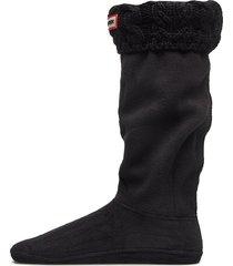 hunter dualcableknit bootsock lingerie socks knee high socks svart hunter