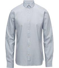 striped oxford shirt l/s skjorta business blå shine original