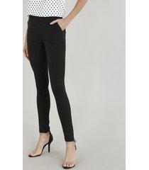 calça legging feminina com pespontos preta