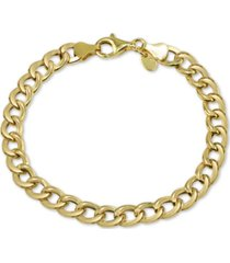 argento vivo open curb link bracelet in gold-plate over sterling silver