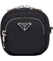 prada cargo pouch - black
