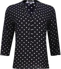 blusa estampada color negro, talla s