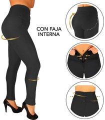 pantalon con faja interna -moldeador - efecto invisible - levantacola - gris- canela by elvira burgos