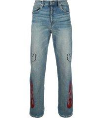 lost daze dove flame jeans - blue
