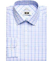 joseph abboud light blue & lavender plaid dress shirt
