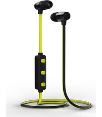 audífonos bluetooth inalámbrico música deportiva con micrófono - amarillo