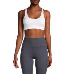 marika women's floss-back sports bra - white - size xl