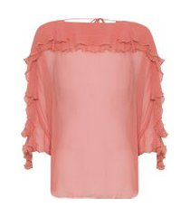blusa feminina top turmalina - rosa