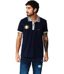 camiseta tipo polo-puntazul-azul oscuro-41450
