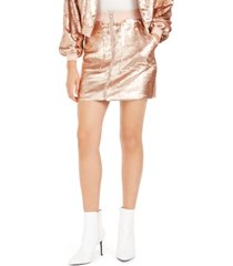 becca tilley x bar iii sequin utility skirt, created for macy's