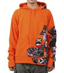 paul & shark by greg lauren orange hoodie