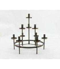 świecznik metalowy okrągły taormina