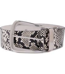 b-low the belt snakeskin print belt - white