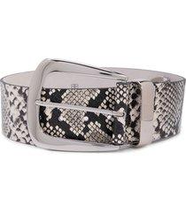 b-low the belt snakeskin print belt - white