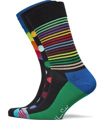 3-pack classic multi-color socks gift set underwear socks regular socks multi/mönstrad happy socks