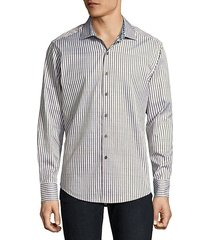 marion cotton casual button-down shirt