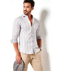 desoto heren overhemd gestreept cutaway slim fit