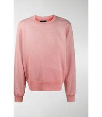 amiri distressed cotton sweatshirt