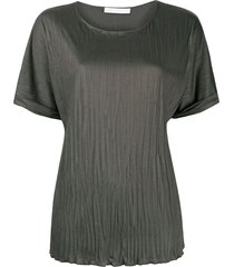 fabiana filippi crinkle-texture short-sleeve t-shirt - green