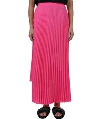balenciaga pink pleated skirt