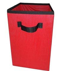 caixa organizadora de 28x30x28 vermelho com alça