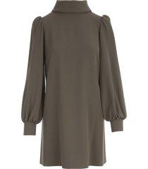 parosh high neck l/s dress