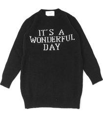alberta ferretti black wool and cashmere sweater