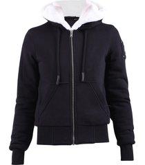 moose knuckles zipped sweatshirt