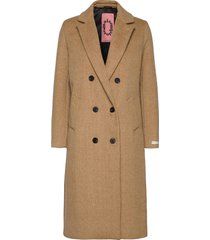 tailored double breasted coat yllerock rock beige scotch & soda