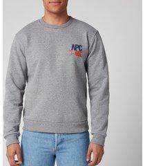 a.p.c. men's reynaldo sweatshirt - gris chine - xxl