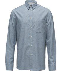 m. heath tweed shirt skjorta business blå filippa k