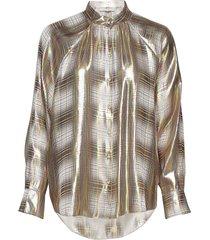 posava shirt blouse lange mouwen goud postyr