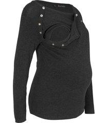 maglione prémaman / da allattamento (grigio) - bpc bonprix collection