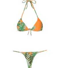amir slama mata atlântica triangle bikini set - orange