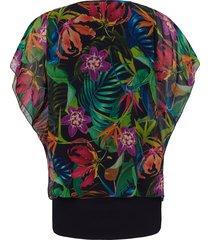 2-in-1-blouse met korte mouwen van doris streich multicolour