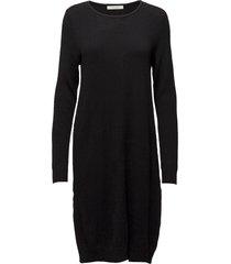 viril l/s knit dress - noos knälång klänning svart vila