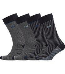cr7 4-pack socks giftbox underwear socks regular socks grå cr7