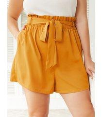 yoins plus talla cinturón diseño bolsillo lateral para atar diseño shorts