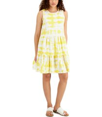 style & co tie-dyed babydoll dress, created for macy's