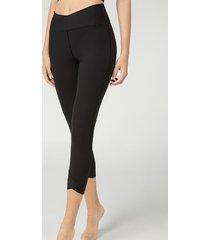 calzedonia wrap detail 7/8 leggings woman black size m
