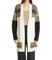 women's max mara buona belted cardigan, size x-small - white