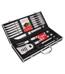 conjunto chef para churrasco 16 peças com maleta euro home