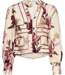 adie blouse blus långärmad multi/mönstrad by malina