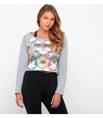 moletom cropped pretorian triangle feminino